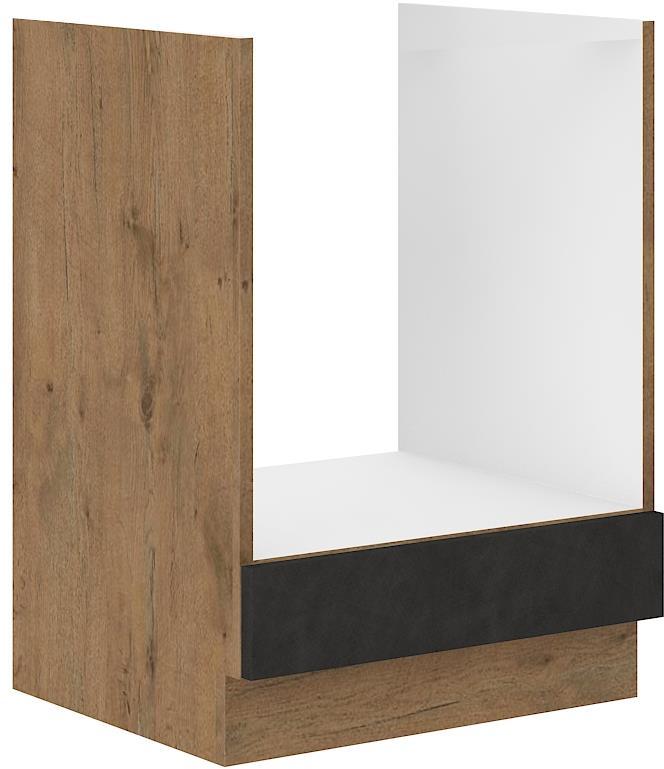 Dolní skříňka pro troubu Viktorie grafit mat 11 (60 cm) bez pracovní desky