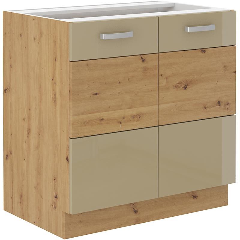 Dolní skříňka Arisa 2 (80 cm) cappucino lesk bez pracovní desky
