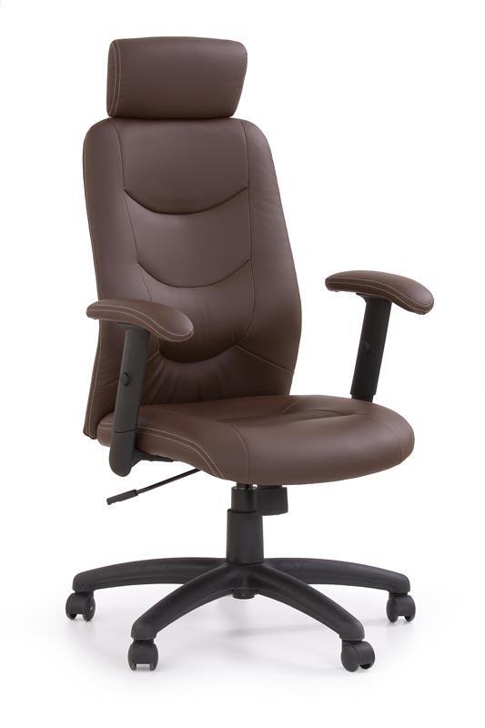 Kancelářská židle Stilo - tmavě hnědá