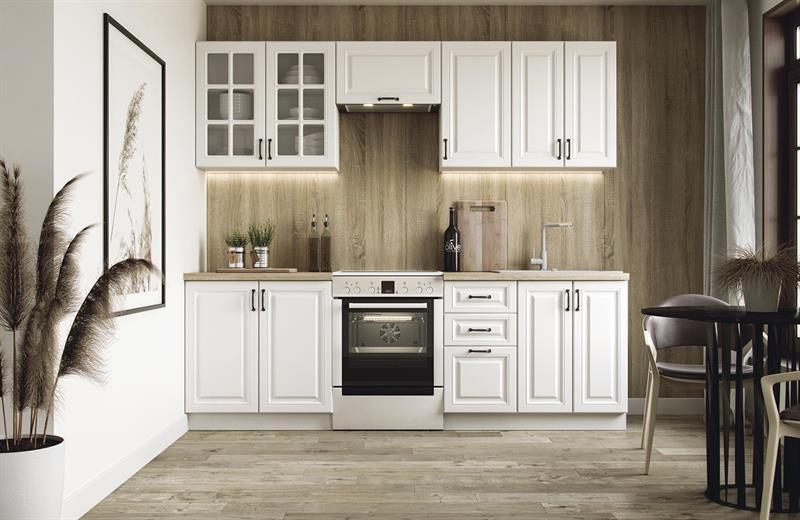 Kuchyňská linka Eliza 240 cm - bílý mat