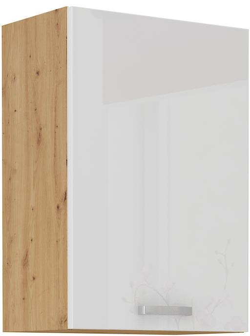 Horní skříňka Arisa 13 (50 / 72 cm) bílý lesk