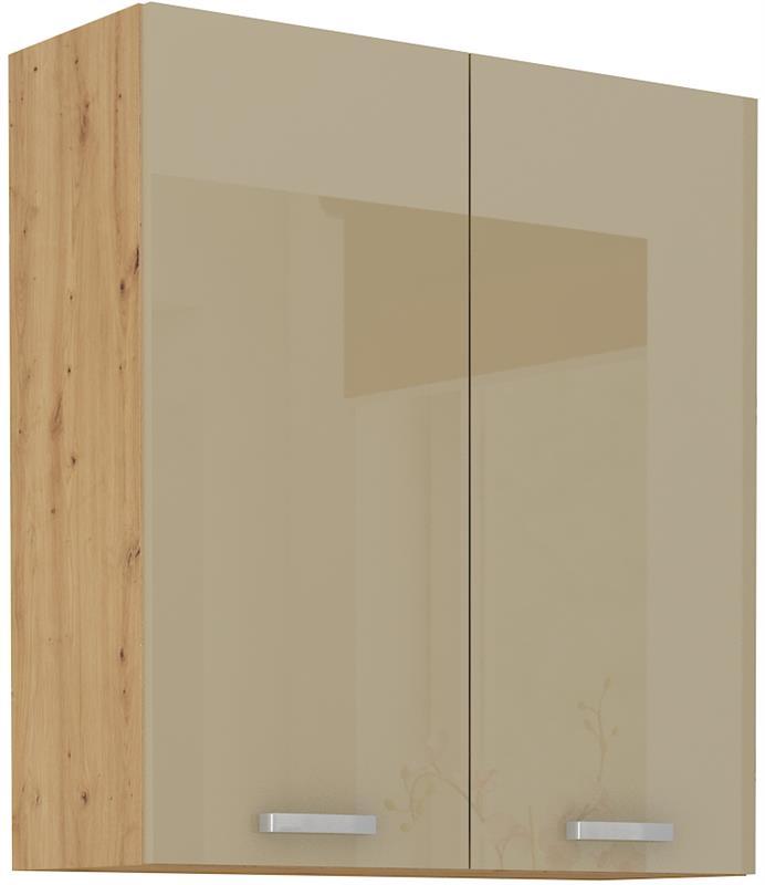Horní skříňka Arisa 21 (80 / 90 cm) cappucino lesk