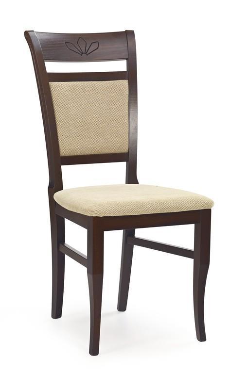 Dřevěná židle Jakub - tmavý ořech