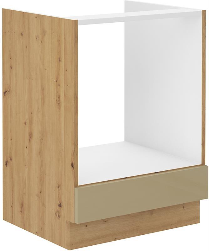 Dolní skříňka pro troubu Arisa 11 (60 cm) cappucino lesk bez pracovní desky