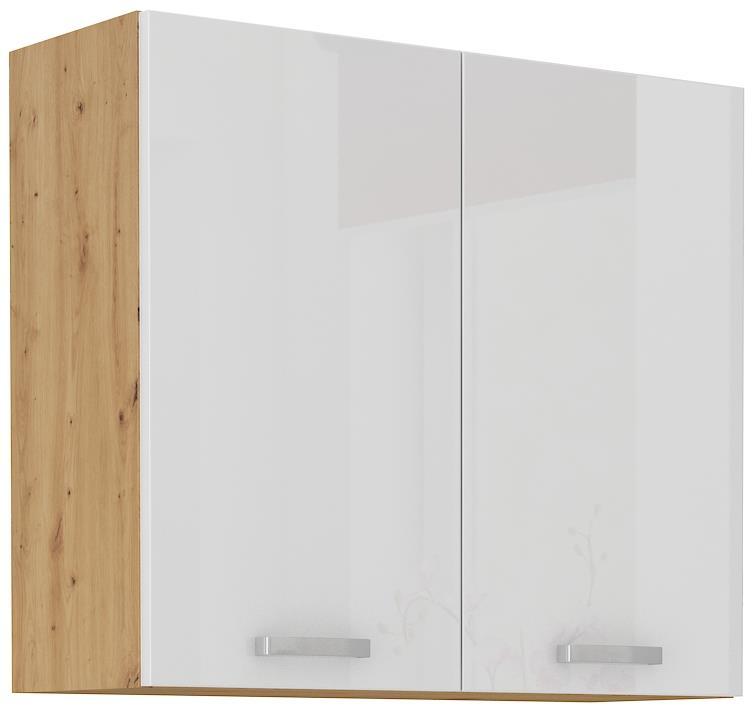 Horní skříňka Arisa 12 (80 / 72 cm) bílý lesk