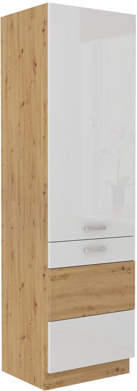 Potravinová skříň Arisa 36 (60 cm) bílý lesk