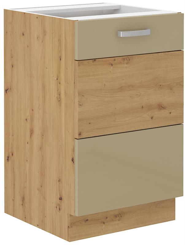 Dolní skříňka dřezová Arisa 8 (50 cm) cappucino lesk