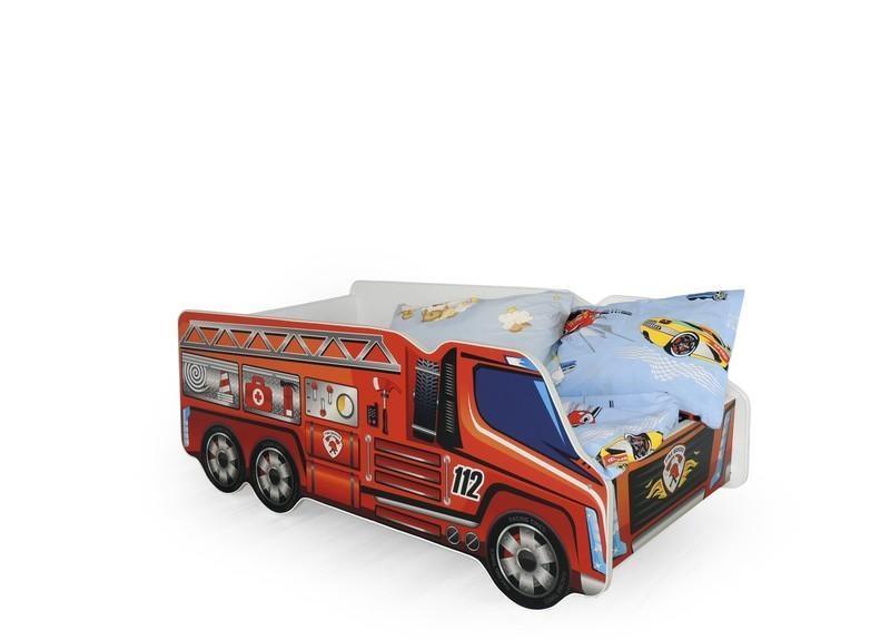 Dětská postel Hasičský vůz včetně matrace