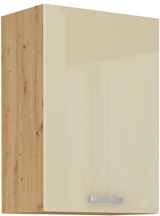 Horní skříňka Arisa 13 (50 / 72 cm) krémový lesk