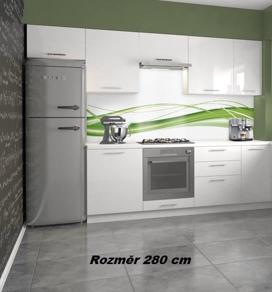 Kuchyňská linka Verona vysoký lesk 280 cm ( volitelná sestava )