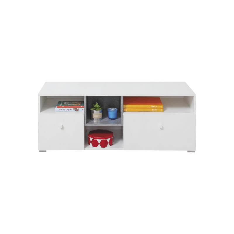 TV stolek Sigma 9 - bílý lux / beton