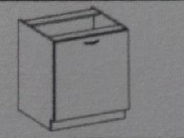 Dolní skříňka Eva 18 bez pracovní desky (40 cm)