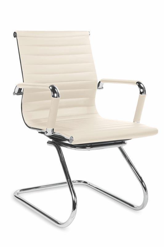 Kancelářská židle Prestige Skid - krémová