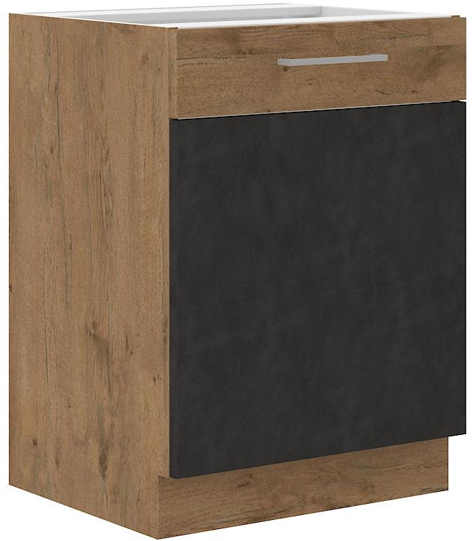 Dolní skříňka Viktorie grafit mat 4 (60 cm) bez pracovní desky