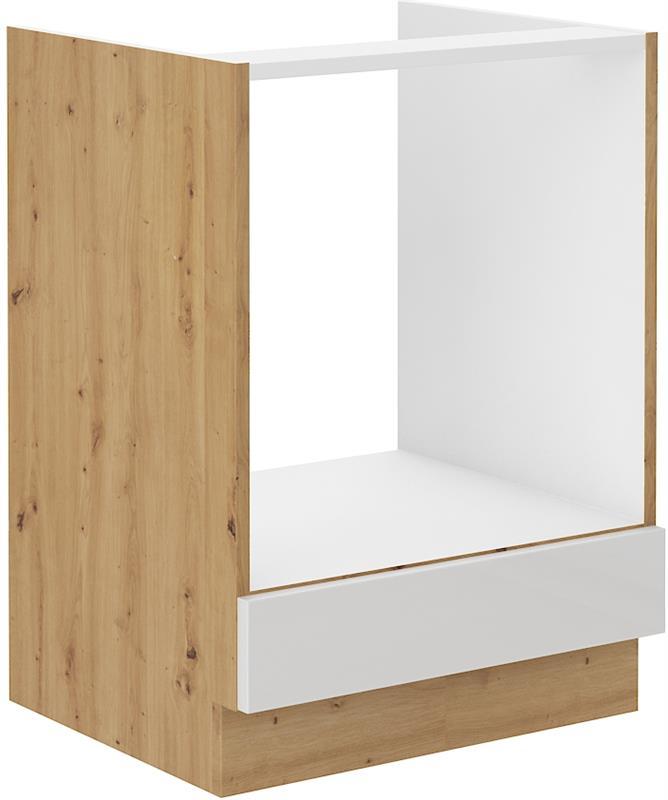 Dolní skříňka pro troubu Arisa 11 (60 cm) bílý lesk - bez pracovní desky