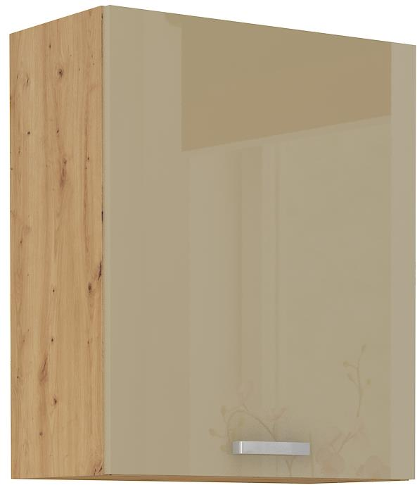 Horní skříňka Arisa 14 (60 / 72 cm) cappucino lesk
