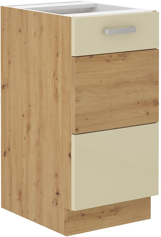 Dolní skříňka Arisa 6 (40 cm) krémový lesk bez pracovní desky