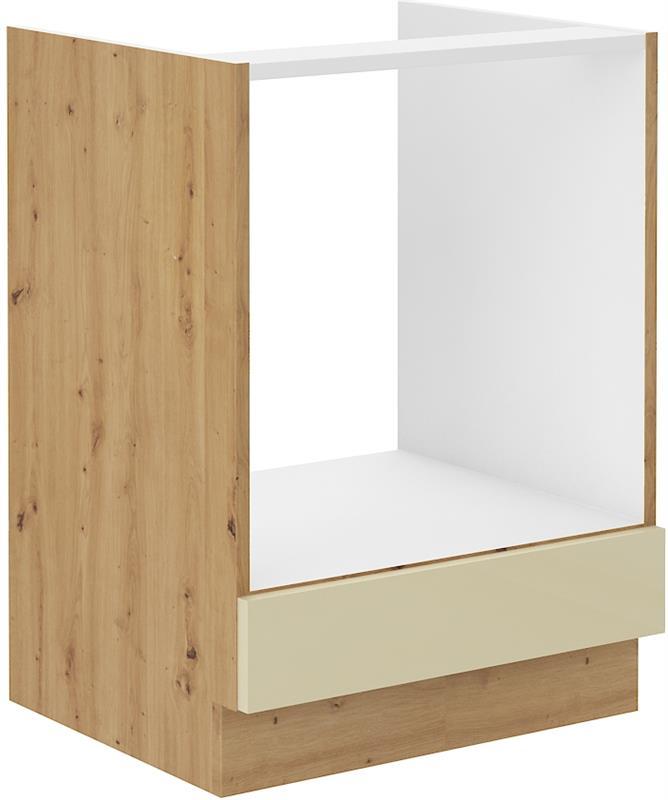Dolní skříňka pro troubu Arisa 11 (60 cm) krémový lesk bez pracovní desky