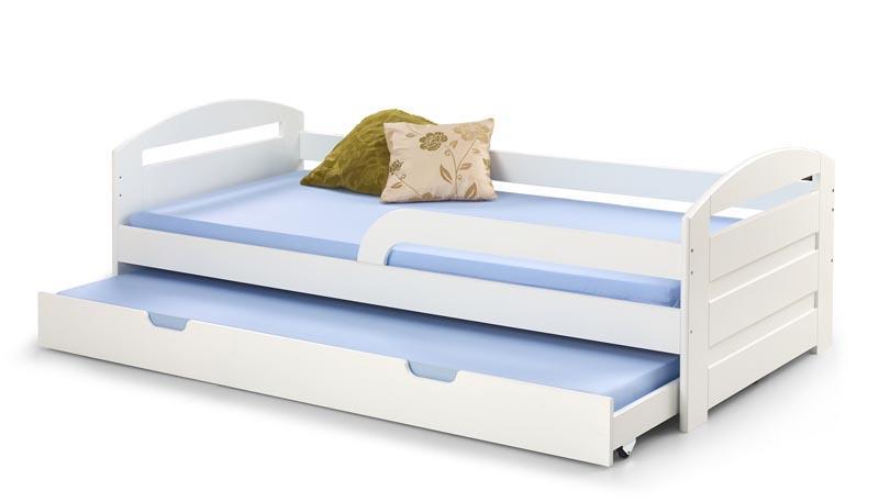 Dětská postel Naty s přistýlkou - bílá