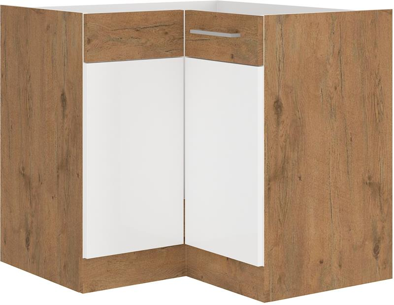 Dolní rohová skříňka Viktorie 10 bez pracovní desky (89 x 89 cm)