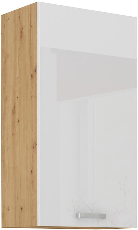 Horní skříňka Arisa 24 (45 / 90 cm) bílý lesk