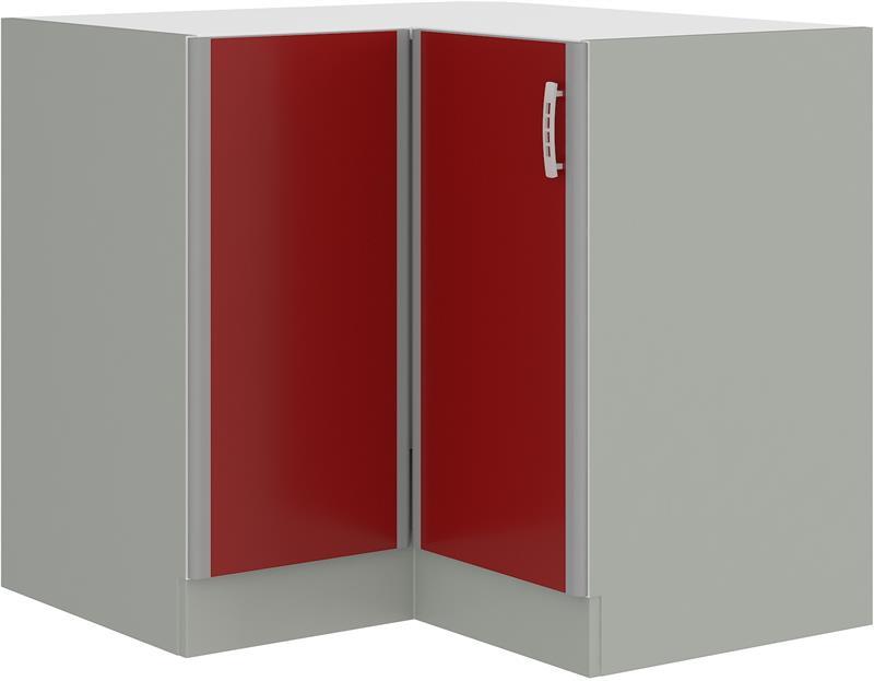 Dolní rohová skříňka Eva 6 bez pracovní desky (89 x 89 cm)