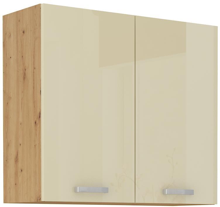 Horní skříňka Arisa 12 (80 / 72 cm) krémový lesk