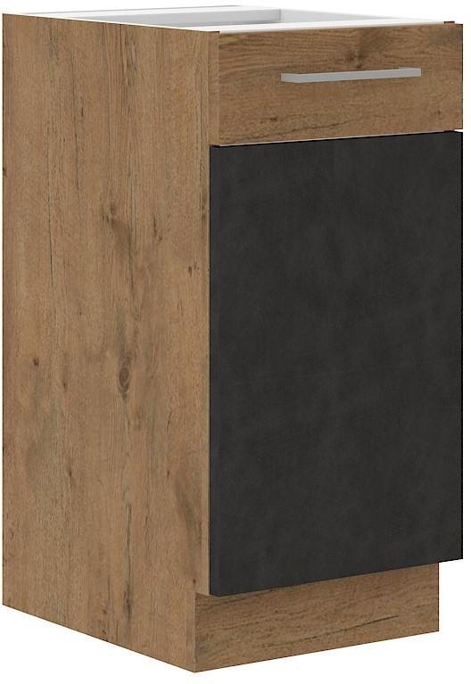 Dolní skříňka Viktorie grafit mat 6 (40 cm) bez pracovní desky