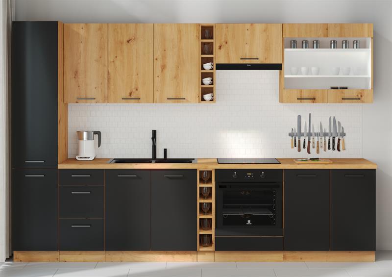 Kuchyňská linka Moderna 1 - černý mat ( volitelná sestava )