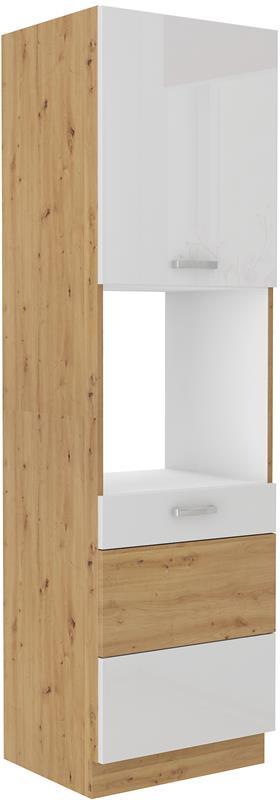 Skříň pro troubu Arisa 39 (60 cm) bílý lesk