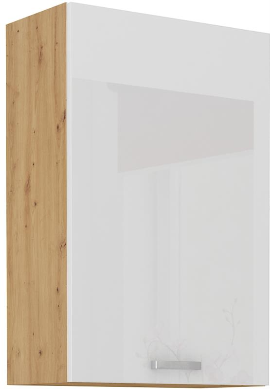 Horní skříňka Arisa 22 (60 / 90 cm) bílý lesk