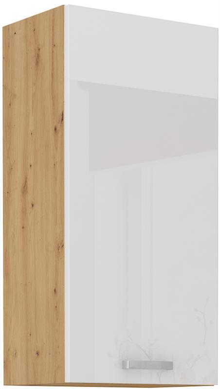 Horní skříňka Arisa 23 (50 / 90 cm) bílý lesk