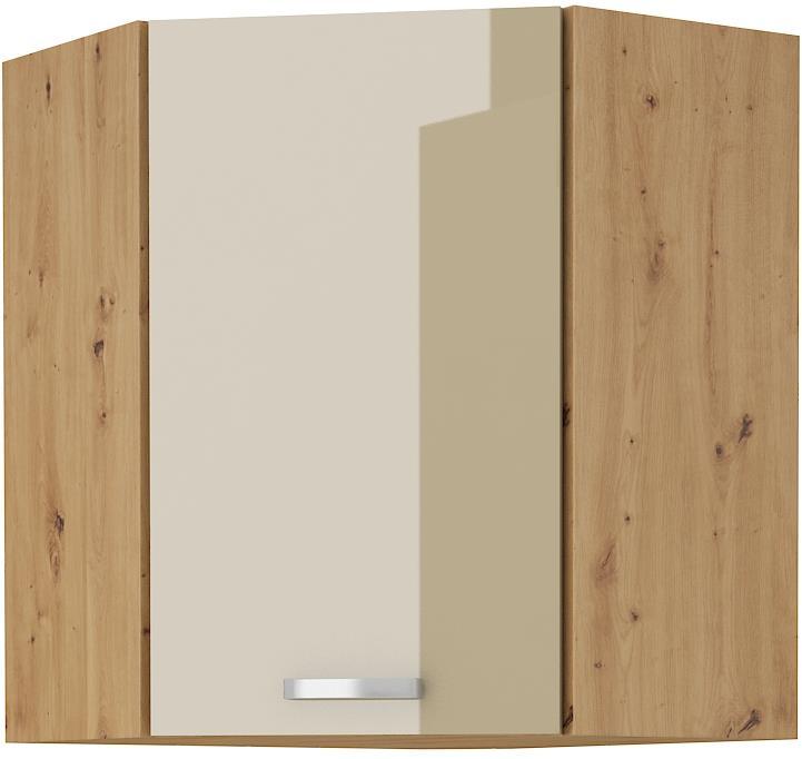 Horní rohová skříňka Arisa 20 (58x58 / 72 cm) cappucino lesk