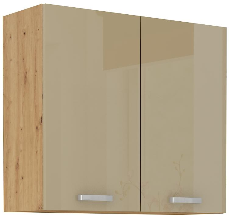 Horní skříňka Arisa 12 (80 / 72 cm) cappucino lesk