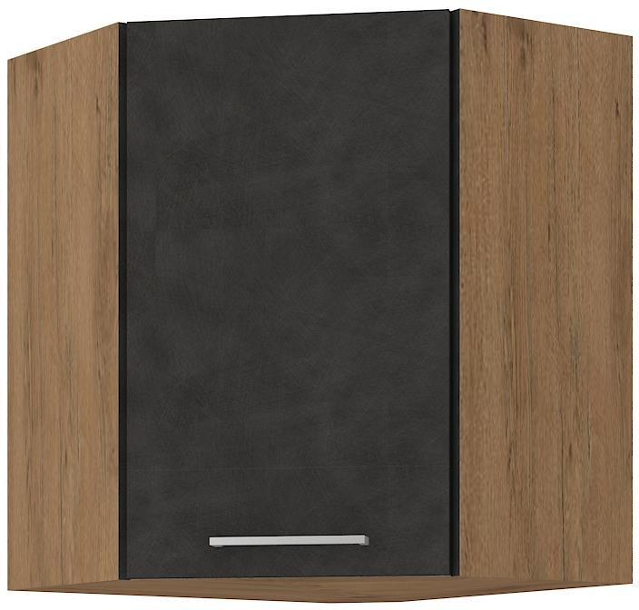 Horní rohová skříňka Viktorie grafit mat 36 (58/58 cm)
