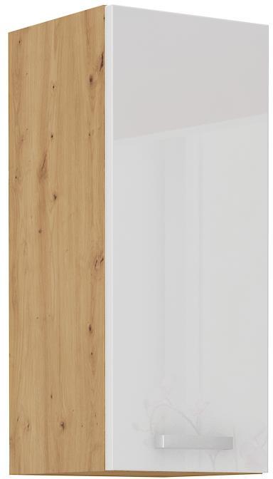 Horní skříňka Arisa 19 (30 / 72 cm) bílý lesk