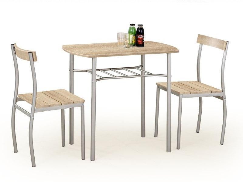 Jídelní set LANCE - stůl + 2 židle sonoma