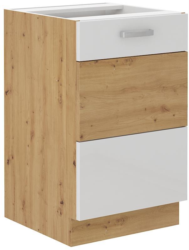 Dolní skříňka dřezová Arisa 8 (50 cm) bílý lesk - bez pracovní desky
