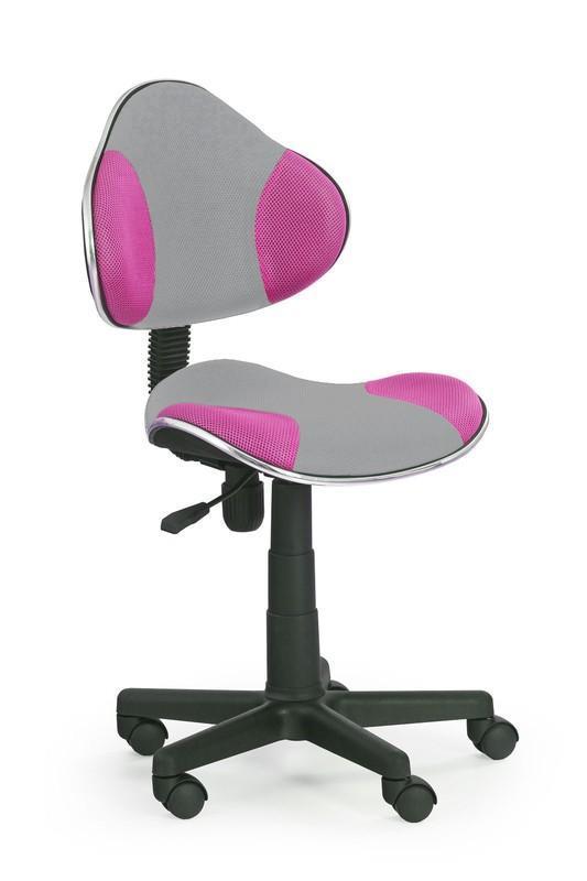 Dětská židle Flip 2 - šedo - růžová
