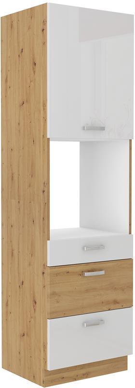 Skříň pro troubu Arisa 38 (60 cm) bílý lesk