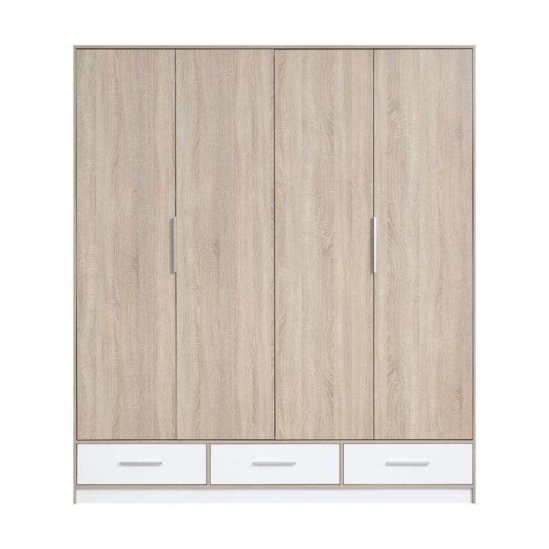 Šatní skříň Isis 1 dub sonoma / bílý lux - 204 / 230 / 60 cm