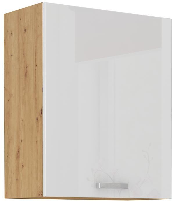 Horní skříňka Arisa 14 (60 / 72 cm) bílý lesk