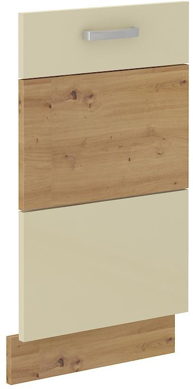 Dvířka na myčku Arisa 34 (713 x 446 mm) krémový lesk