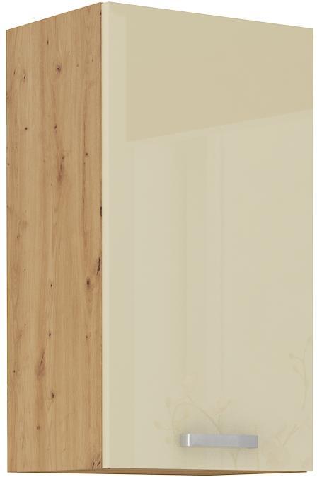 Horní skříňka Arisa 18 (40 / 72 cm) krémový lesk
