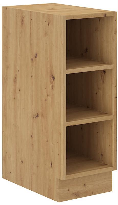 Dolní otevřená skříňka Arisa 26 (30 cm) cappucino lesk bez pracovní desky