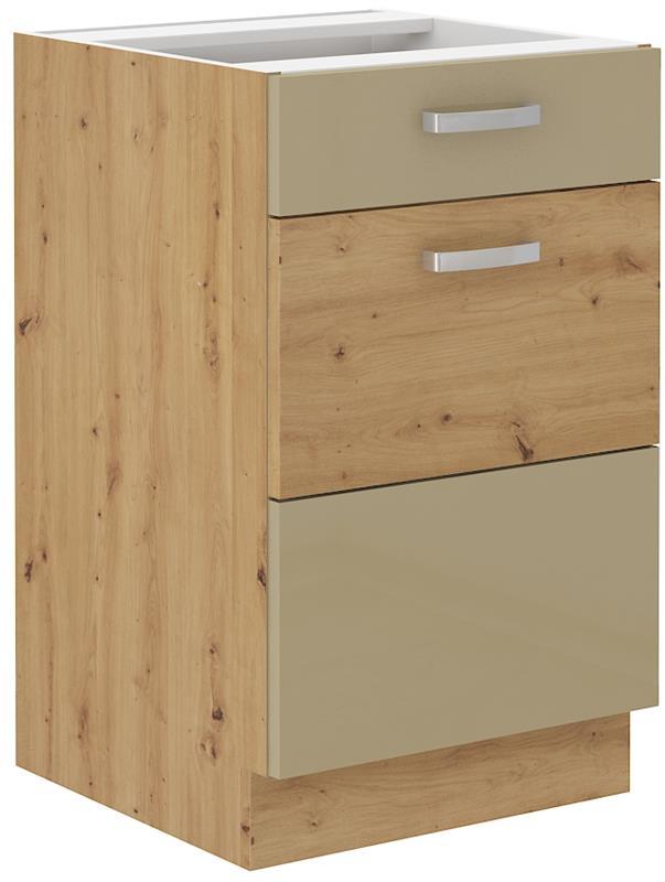 Dolní skříňka Arisa 7 (50 cm) cappucino lesk bez pracovní desky