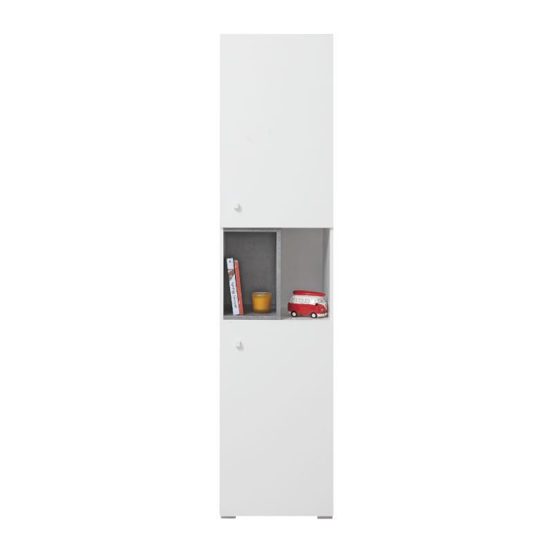 Skříň Sigma 5 - bílý lux / beton