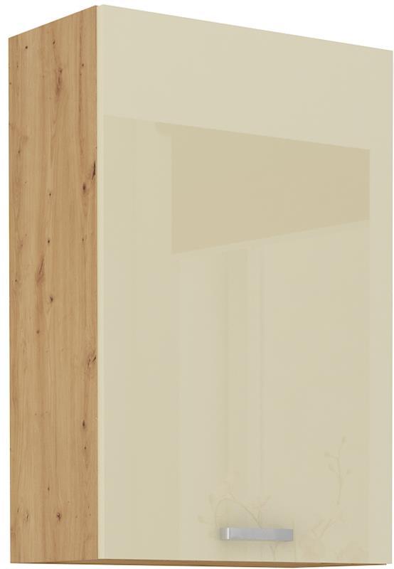 Horní skříňka Arisa 22 (60 / 90 cm) krémový lesk