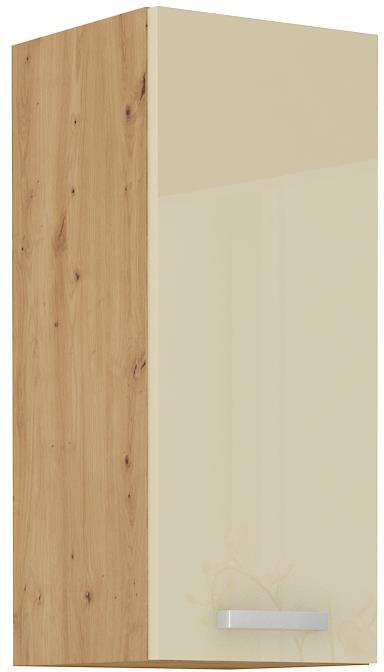 Horní skříňka Arisa 19 (30 / 72 cm) krémový lesk