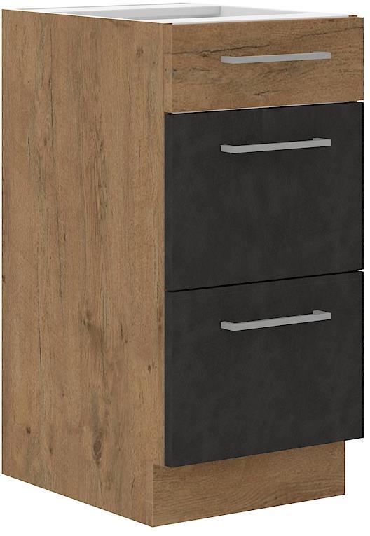 Dolní skříňka Viktorie grafit mat 7 (40 cm) bez pracovní desky